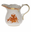 """Herend Chinese Bouquet Rust Creamer  (10 Oz) 4""""H"""