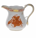 """Herend Chinese Bouquet Rust Creamer  (4 Oz) 3.25""""H"""
