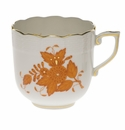 Herend Chinese Bouquet Rust Mocha Cup  (4 Oz)