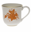 """Herend Chinese Bouquet Rust Mug  (10 Oz) 3.5""""H"""