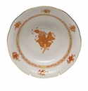 """Herend Chinese Bouquet Rust Oatmeal Bowl  6.5""""D"""