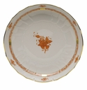 """Herend Chinese Bouquet Rust Open Vegetable Bowl  10.5""""D"""