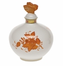 """Herend Chinese Bouquet Rust Perfume With Butterfly  4""""W X 5""""H"""