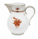 """Herend Chinese Bouquet Rust Pitcher (60 Oz) 7.75""""H"""