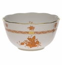 """Herend Chinese Bouquet Rust Round Bowl  (3.5 Pt) 7.5""""D"""