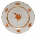 """Herend Chinese Bouquet Rust Salad Plate  7.5""""D"""
