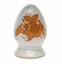 """Herend Chinese Bouquet Rust Salt Shaker Multi Hole  2.5""""H"""
