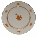 """Herend Chinese Bouquet Rust Service Plate  11""""D"""