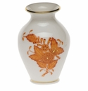"""Herend Chinese Bouquet Rust Small Bud Vase With Lip 2.5""""H"""