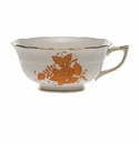 Herend Chinese Bouquet Rust Tea Cup  (8 Oz)