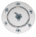 """Herend Chinese Bouquet Turquoise & Platinum Bread & Butter Plate 6""""D"""
