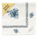 Herend Chinese Bouquet Turquoise & Platinum Paper Napkins Pack Of 20