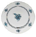 """Herend Chinese Bouquet Turquoise & Platinum Salad Plate 7.5""""D"""