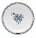 """Herend Chinese Bouquet Turquoise & Platinum Tea Saucer 6""""D"""