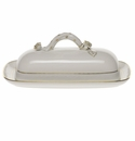 "Herend Golden Edge Butter Dish With Branch  8.5""L"