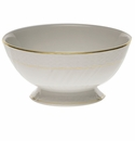 "Herend Golden Edge Footed Bowl 5""D X 2.5""H"