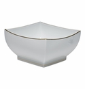 "Herend Golden Edge Large Square Bowl 8""L X 4""H"