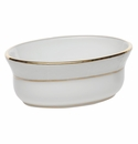 "Herend Golden Edge Mini Oval Bowl 3.75""L X 1.5""H"