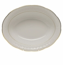 "Herend Golden Edge Oval Vegetable Dish  10""L X 8""W"