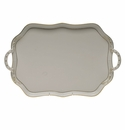 Herend Golden Edge Rectangular Tray With Branch Handles  18""