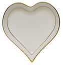 "Herend Golden Edge Small Heart Tray  4""L X 4""W"