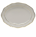 "Herend Golden Edge Small Oval Dish 7.5""L X 1.5""H"