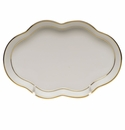 "Herend Golden Edge Small Scalloped Tray  5.5""L"