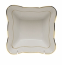 "Herend Golden Edge Small Square Dish 4.75""L X 2""H"