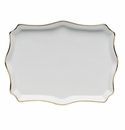 "Herend Golden Edge Small Tray 7.5""L X 5.5""W"