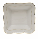 "Herend Golden Edge Square Dish 6.75""L X 2.5""H"