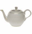 Herend Golden Edge Tea Pot With Butterfly (12 Oz) 4""