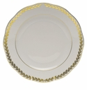 "Herend Golden Laurel Dessert Plate  9""D"