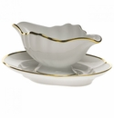 """Herend Gwendolyn Gravy Boat With Fixed Stand  10""""L"""