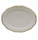 """Herend Gwendolyn Oval Platter  15""""L"""