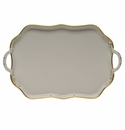 """Herend Gwendolyn Rectangular Tray With Handles 18"""""""