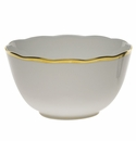 """Herend Gwendolyn Round Open Vegetable Bowl  7.5""""D"""