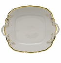 Herend Gwendolyn Square Cake Plate With Handles  9