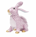 Herend Porcelain Bunny Rabbit Figurines