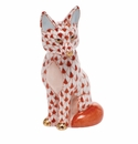 Herend Porcelain Fox Figurines