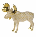 Herend Porcelain Moose Figurines