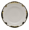 "Herend Princess Victoria Black Bread & Butter Plate 6""D"