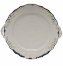"Herend Princess Victoria Blue Chop Plate With Handles 12""D"