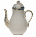 Herend Princess Victoria Blue Coffee Pot With Rose (36 Oz) 8.5""