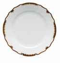 "Herend Princess Victoria Brown Dinner Plate 10.5""D"