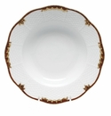 "Herend Princess Victoria Brown Rim Soup Plate 8""D"