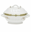 "Herend Princess Victoria Dark Green Tureen With Branch (2 Qt) 9.5""H"
