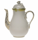 Herend Princess Victoria Green Coffee Pot With Rose (36 Oz) 8.5""