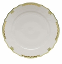 "Herend Princess Victoria Green Dinner Plate 10.5""D"