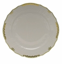 "Herend Princess Victoria Green Service Plate 11""D"