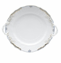"Herend Princess Victoria Light Blue Chop Plate With Handles 12""D"